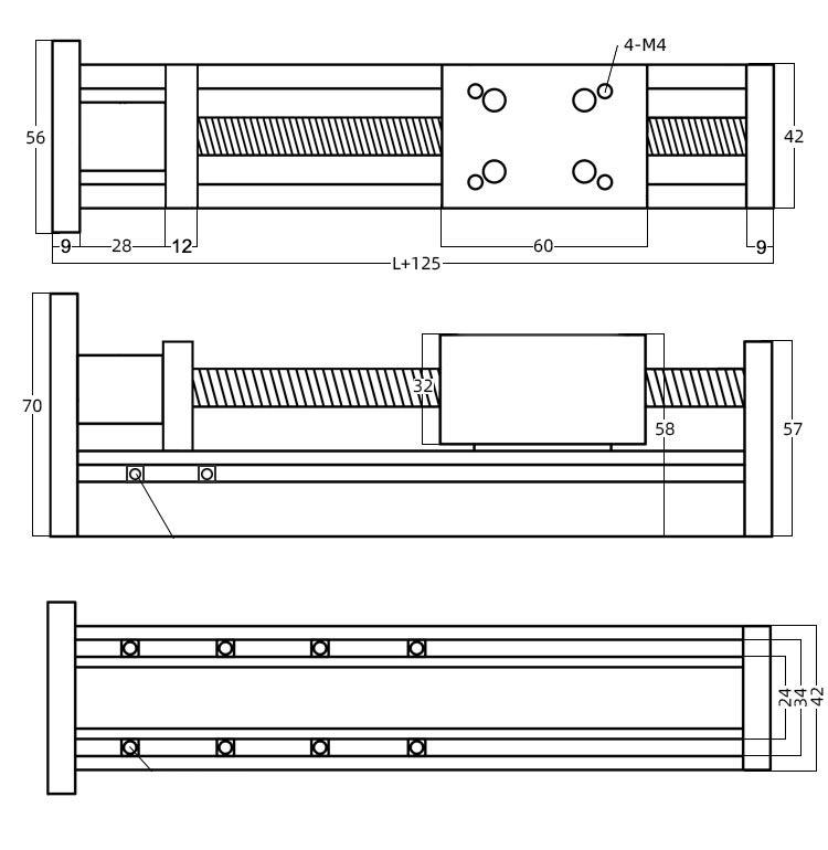 bản vẽ cấu tạo của cơ cấu TLM40-S