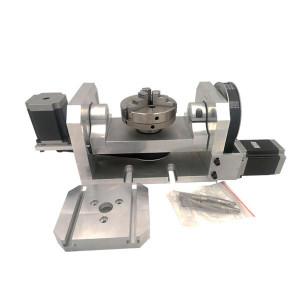 Bộ trục 4 5 cho máy gia CNC mini 5 trục (Mâm cặp 100)