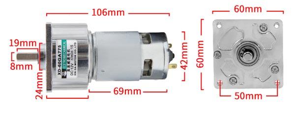 kích thước động cơ 775