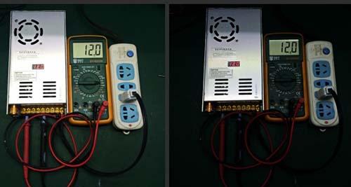 kiểm tra điện áp 12V